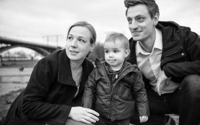 Familienfotos draußen