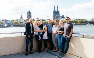 Fotoshooting am Rheinboulevard